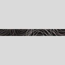 Фриз Ночь черный - плитка для стен