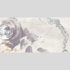 Панно Флоретта 2 серый - плитка для стен