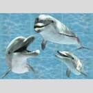 Березакерамика - Лазурь дельфин, панно