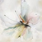Березакерамика - Панно Оникс Бабочка салатный
