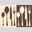 Domino - Sakura cutlery декор