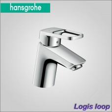Logis Loop 70 - смеситель  для раковины со сливным гарнитуром