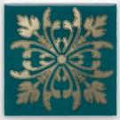 Kerama Marazzi - Вставка Клемансо зелёный темный, плитка для стен