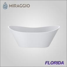 Miraggio FLORIDA - ванна из литого мрамора, отдельно стоящая.