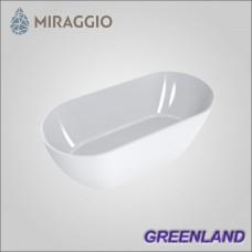 Miraggio GREENLAND - ванна из литого мрамора, отдельно стоящая.