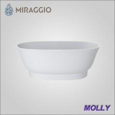 Miraggio MOLLY - ванна из литого мрамора, отдельно стоящая.