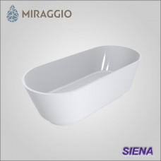 Miraggio SIENA - ванна из литого мрамора, отдельно стоящая.